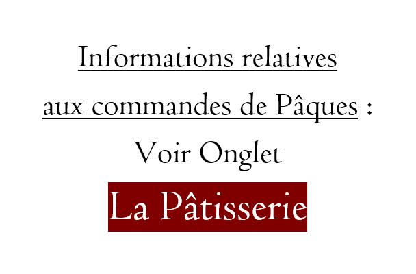 Informations Commandes de Pâques